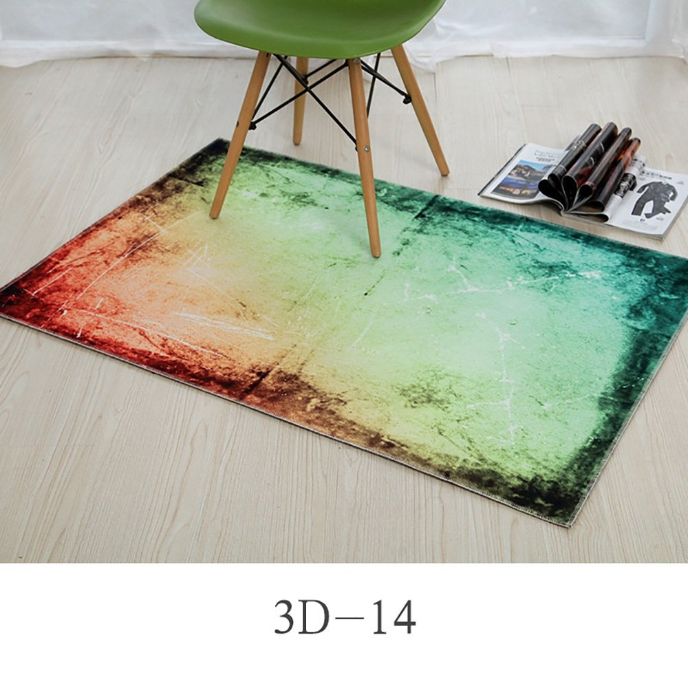 カーペット敷物パーソナライズされたファッションデザイン玄関ベッドルームキッチンマットウォーター長方形パッド吸収性バスルームノンスリップ ( Size : 80*120cm , Style : 3D-14 )   B07BK4GS7S