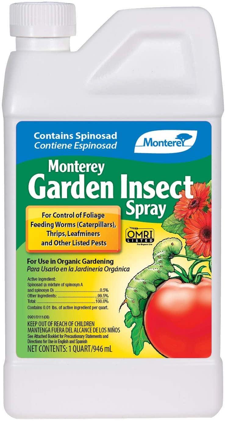 Monterey LG6135 Garden Insect Spray, Insecticide & Pesticide with Spinosad Concentrate, 32 oz