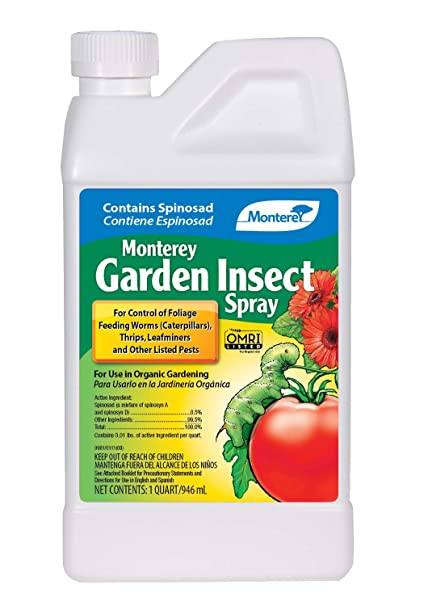 Monterey LG6135 Garden Insect Spray, Insecticide & Pesticide with Spinosad Concentrate, 32 oz, 32 oz