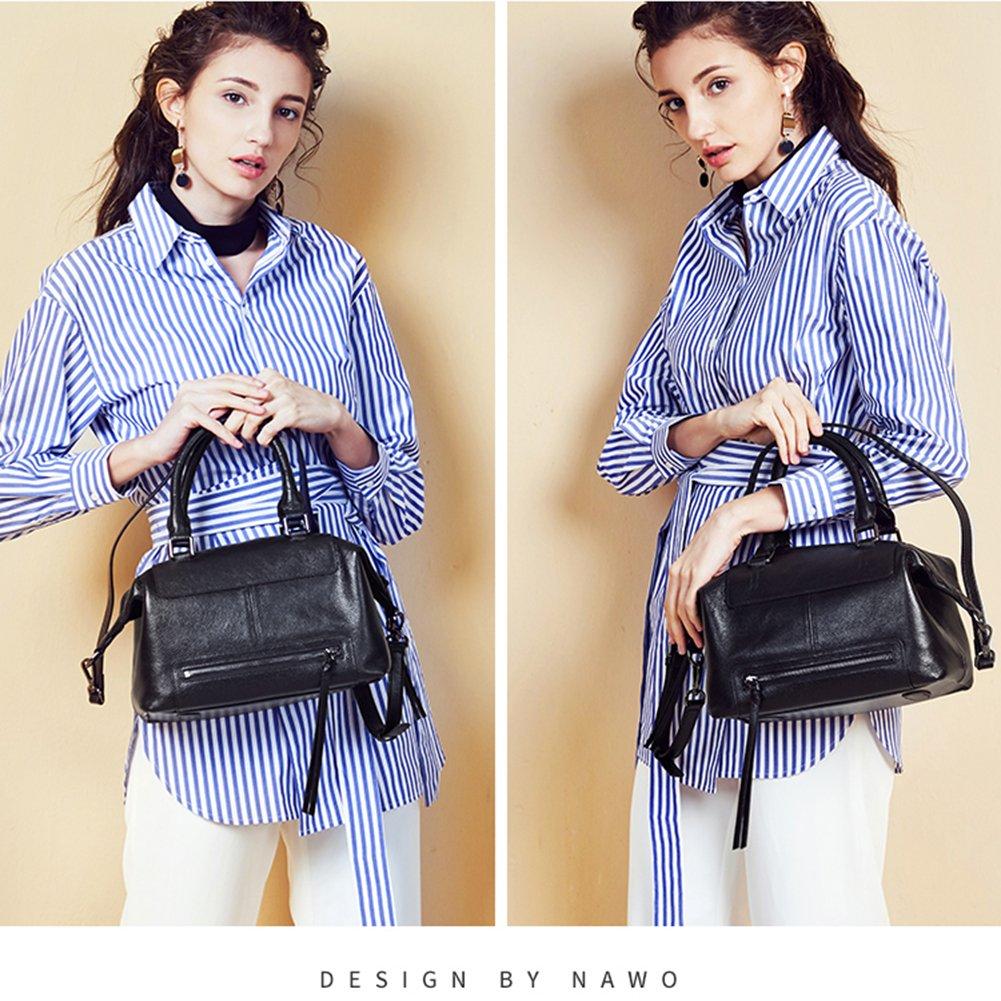NAWO Women Leather Handbags Totes Top Handle Shoulder Bags Crossbody Designer Purse