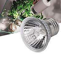 Gugutogo Lampada UVB 25W / 50W / 75W compatta Ideale per terrari a Spettro Completo per Anfibi (Colore: Argento)