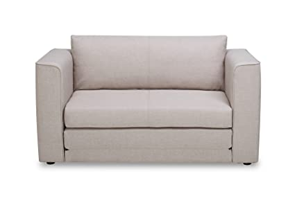 US Pride Furniture Ava Modern Reversible Fabric Loveseat U0026 Sofa Bed, Light  Brown