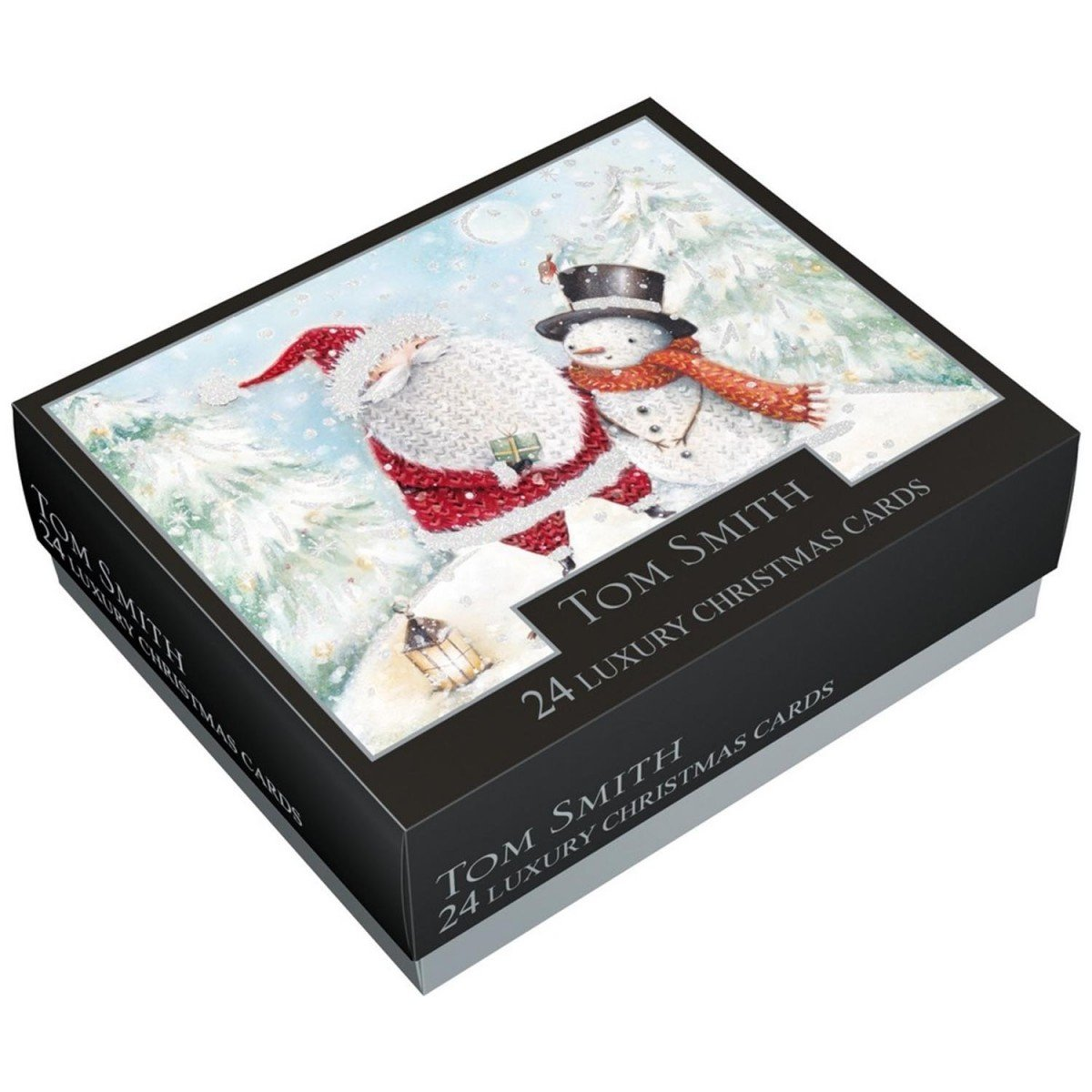 Tom Smith Luxury Boxed Christmas Cards, Cute Santa & Friends - Pack ...