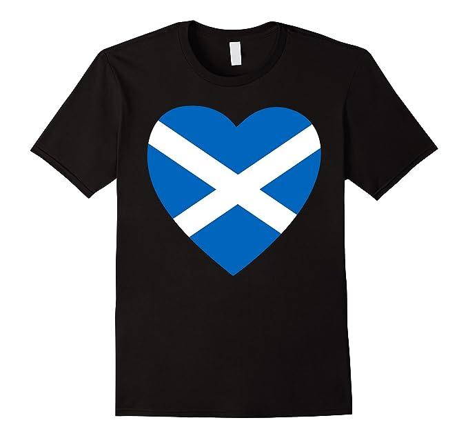 Amazon Scotland Flag Love Heart Scottish Symbol T Shirt Clothing
