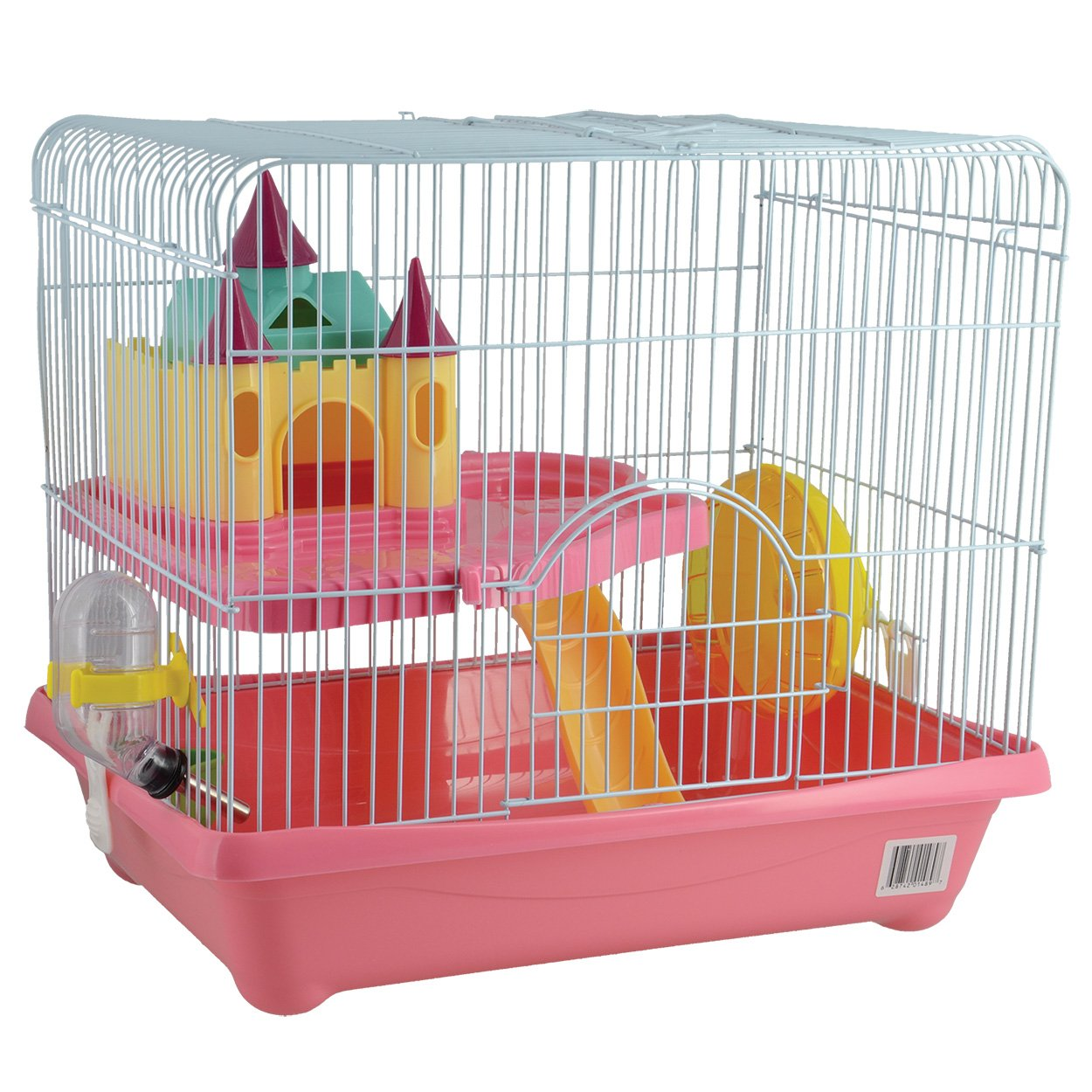 Animal Treasures 31076 Small Animal Castle Cage, Pink