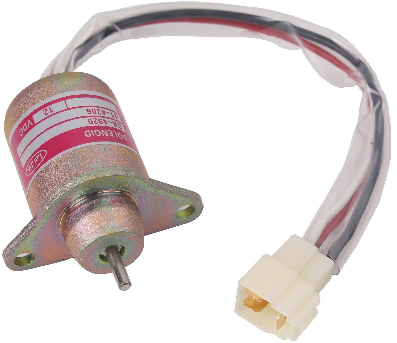 1503es 12s5suc5s Solenoid Valve 12v Fuel Shut Off Woodward 12 Volt Wiring Diagram Replacement For Yanmar 119653 77950 John Kubota Takeuchi Garden Outdoor