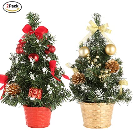 smartcoco 2pcs mini christmas tree xmas decor table decoration small party ornament xmas festival gift