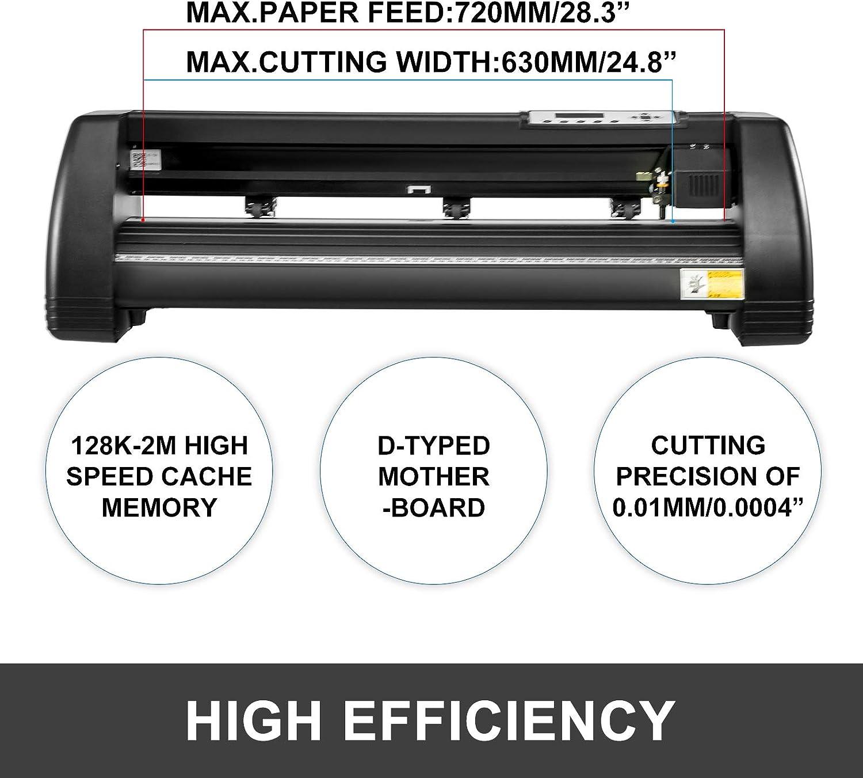 VEVOR Plotter de Corte de Vinilo 72cm, Máquina de Plotter 720mm, Cortador de Vinilo 220V, Impresora Sublimación Vinilo Cortador Letrero Negro, Plotter de Impresión: Amazon.es: Electrónica