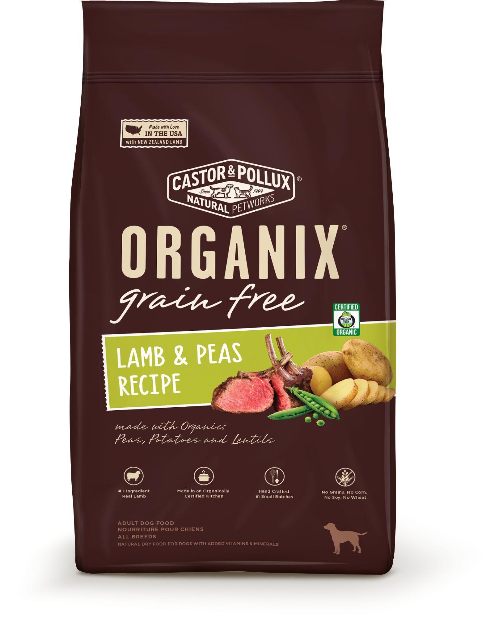 Organix Grain Free Lamb & Peas Recipe, 22 lb