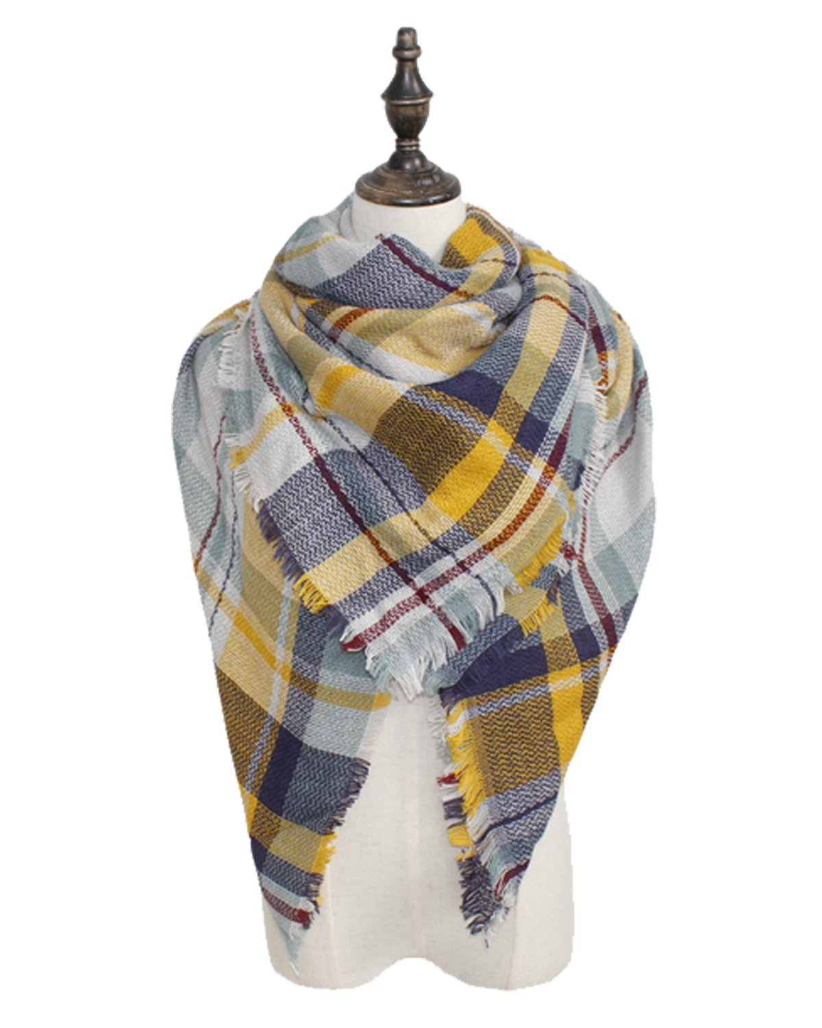 Spring fever Tartan Blanket Scarf Wrap Shawl Neck Stole Plaid Checked Pashmina A08 SUDS0114A07FSSF