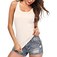 Anyfitting Tank Tops for Women with Built in Shelf Bra Casual Wide Strap Basic Camisole Sleeveless Top for Yoga Daily…