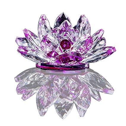 Amazoncom Chunkai Crystal Glass Lotus Flower Symbol Of Purity Home