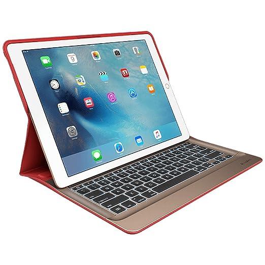 """5 opinioni per Custodia con tastiera retroilluminata Logitech CREATE per iPad Pro 12,9""""- Rosso"""