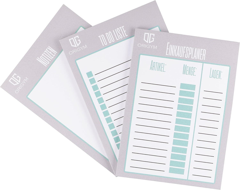 origym/® Organizer di risparmio set I rispettivamente 50/pagine DIN A5/I to do lista della spesa Planer /& blocco note I struttura helfer0