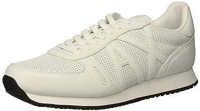 ARMANI EXCHANGE Lace Up Sneaker with Logo, Scarpe da Ginnastica Basse Uomo