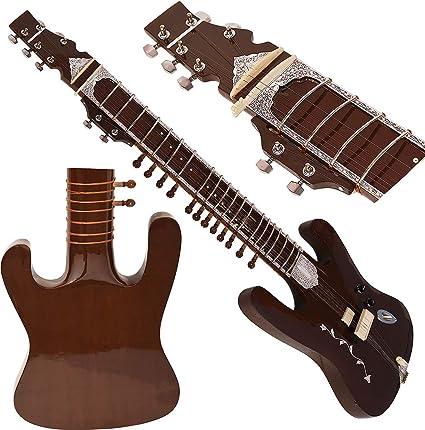 Forma de guitarra Sitar – estilo Ravi Shankar – 7 cuerdas ...