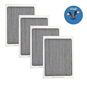 HQRP 4-pack Refrigerator Carbon-Activated Air Filter for Electrolux 242047801 242047804 EAFCBF PS1993820 Replacement + HQRP Coaster