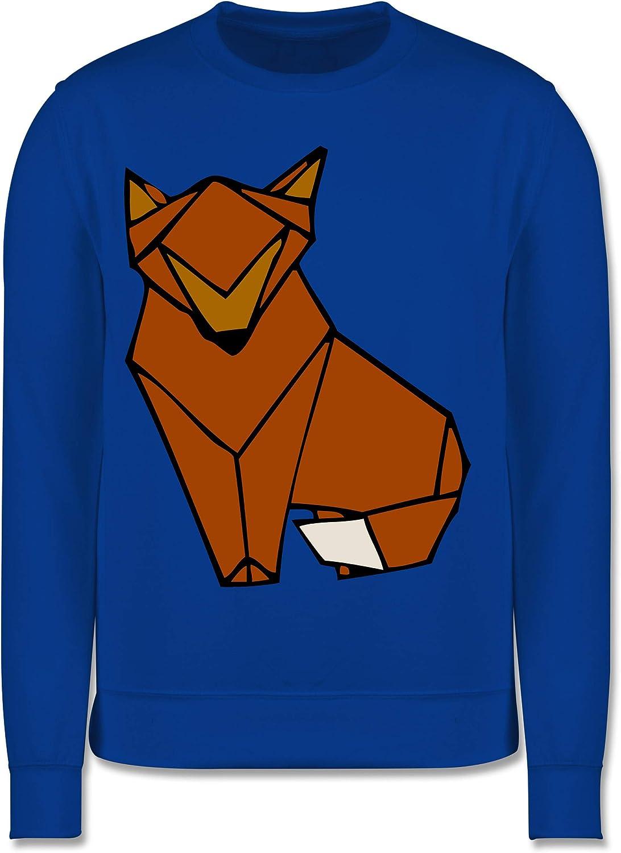 Kinder Pullover Tiermotive Kind Shirtracer Origami Fuchs