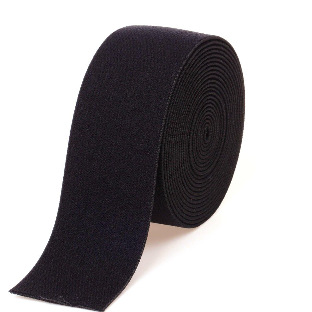 Cotowin Black peluche elastico, comodo da cucire elastico in vita fascia, Black, 1.25' 1.25 XINZHEYUAN