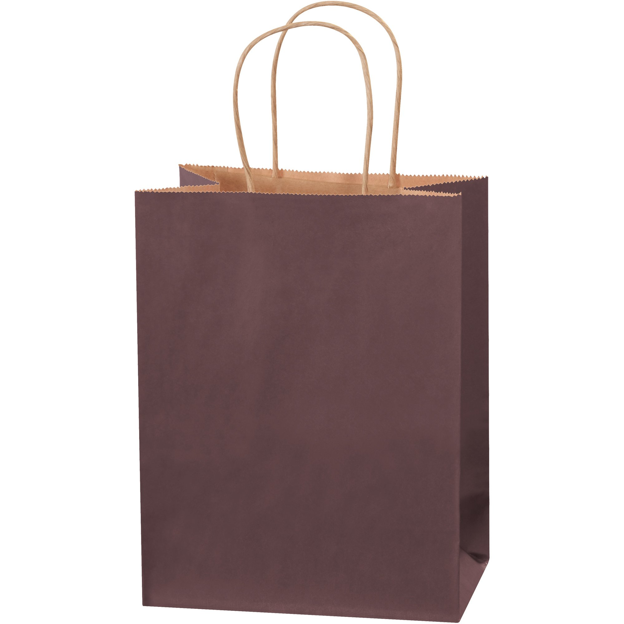 Tinted Shopping Bags, 8'' x 4 1/2'' x 10 1/4'', Brown, 250/Case