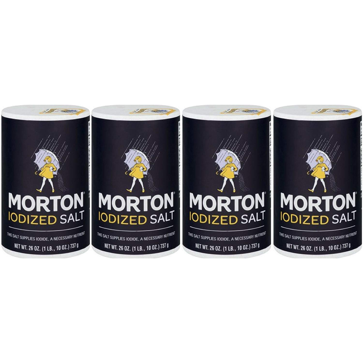 Morton Iodized Salt, 26 oz, Pack of 4 : Grocery & Gourmet Food