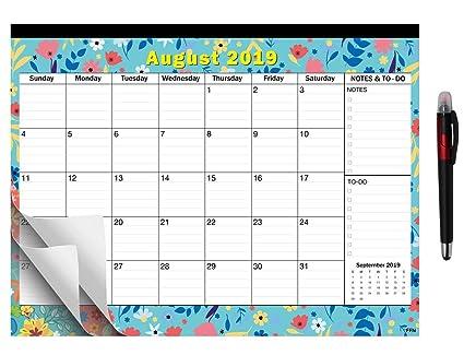 2019-2020 - Planificador mensual de escritorio con ...