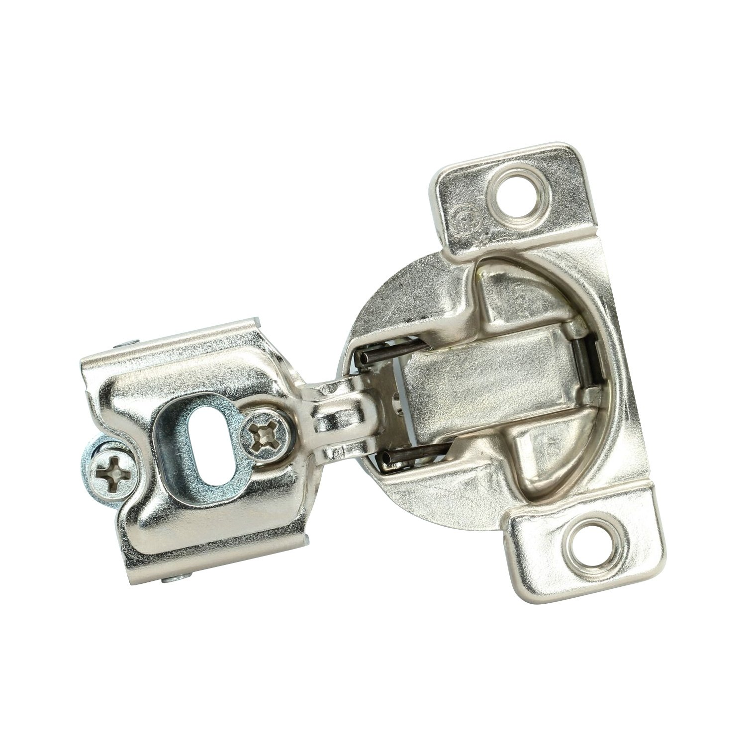 25 Pack Rok Hardware Grass TEC 864 108 Degree 1/4'' Overlay Self Close Screw On Compact Cabinet Hinge 04396-15 3-Way Adjustment