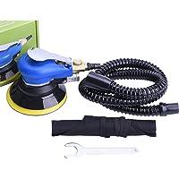 Professional Staubefrei Exzenterschleifer Druckluft 125mm Multischleifer mit Staubfangbehälter,Schleifmaschine Set
