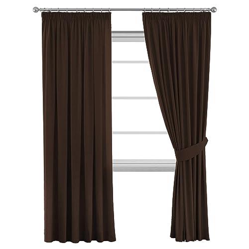 Brown Blackout Curtains: Amazon.co.uk