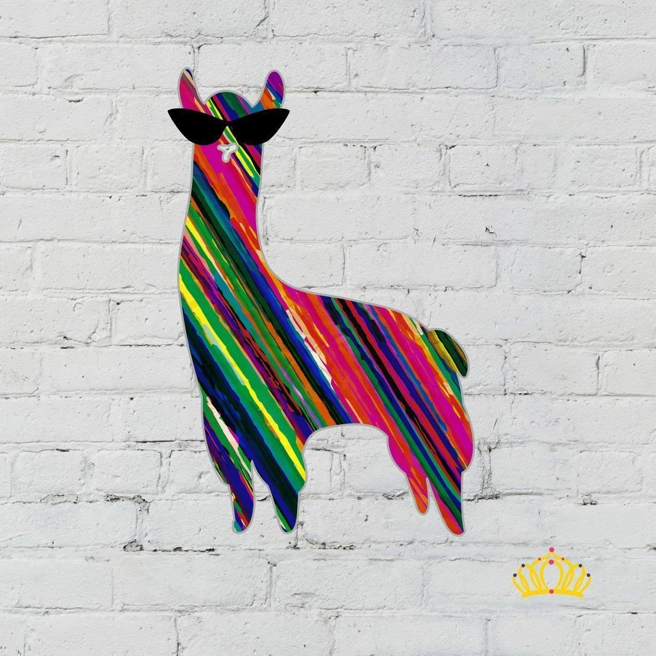 Serape Pattern Llama Decal for Car, Cup, Tumbler, or Laptop - 3.5 inches