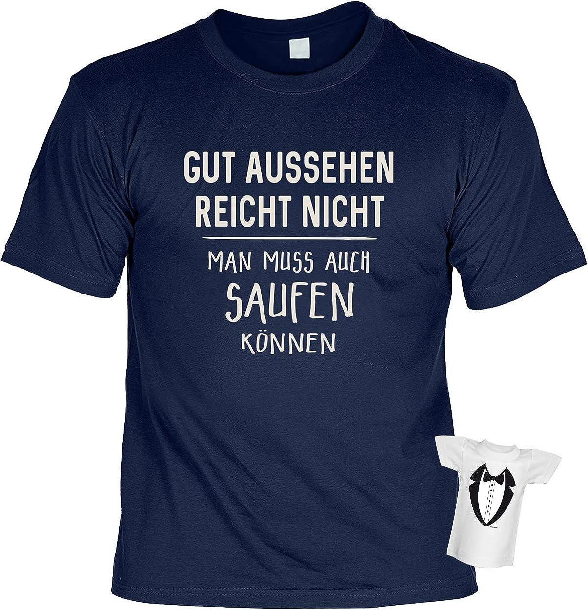 Bier-Sprüche T-Shirt - Partyshirt Saufen - Männer Karneval