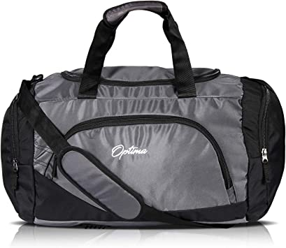 "Multi-Usage Dark Gray//Black 17/"" Men//Women Travel  Duffle Duffel Gym Sports Bag"