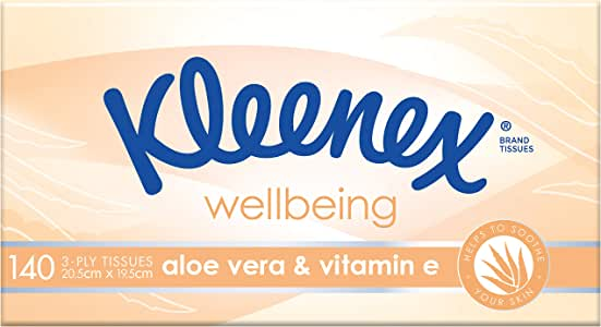 KLEENEX Facial Special Care Aloe Vera & Vitamin E Facial Tissues, 140 sheets