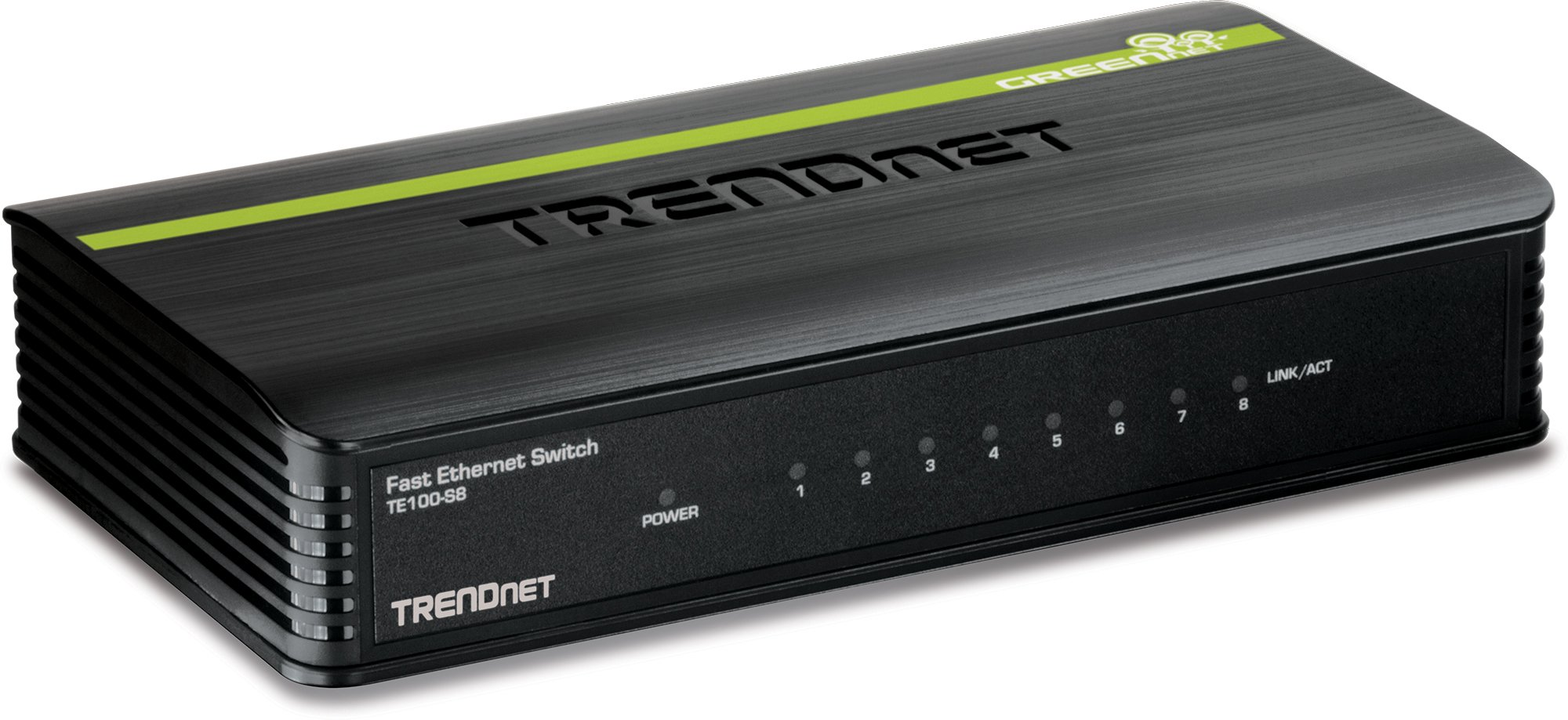 TRENDnet 8-Port Ethernet Switch (8 x 10/100Mbps Auto-MDIX RJ-45 Ports) TE100-S8 (Blue)