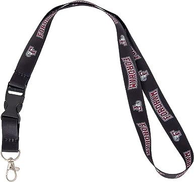 Burgundy Fordham University NCAA Car Keys ID Badge Holder Lanyard Keychain Detachable Breakaway Snap Buckle