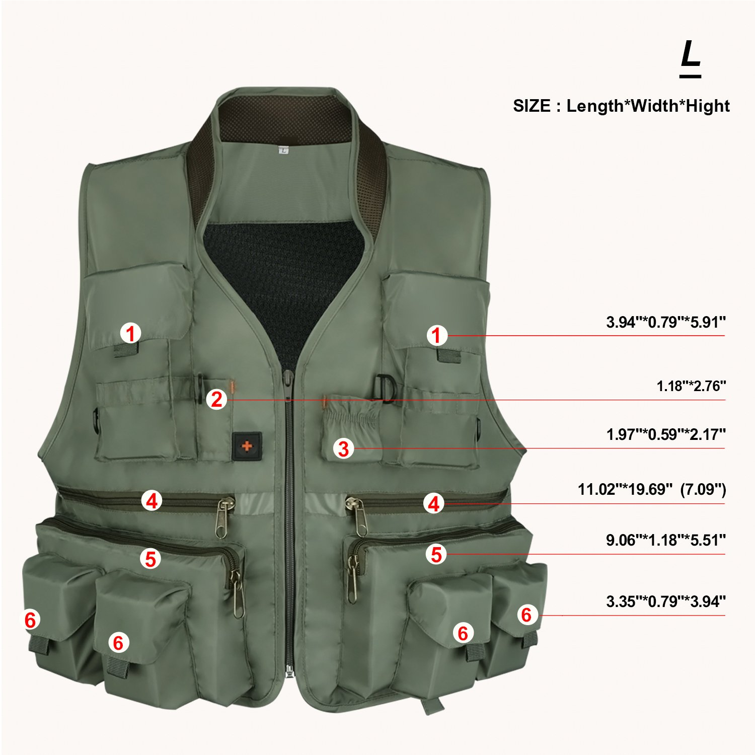 ac6dcaf4d2350 Anglerbasics Army Green Multifunction Airsoft Tactical Vest Quick ...