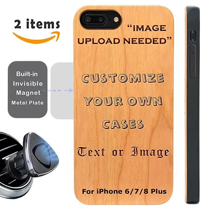 online store a5965 f9d4b Make Your Own Case Compatible with iPhone 8 7 6/6S Plus (ONLY) and Magnetic  Mount-iProductsUS Custom Cases Engraved Your Picture and Words,Built-in ...