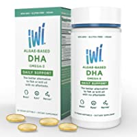 Omega-3 Oil DHA Daily Support - Doctor Recommended Algae Oil Soft Gel Capsules -...