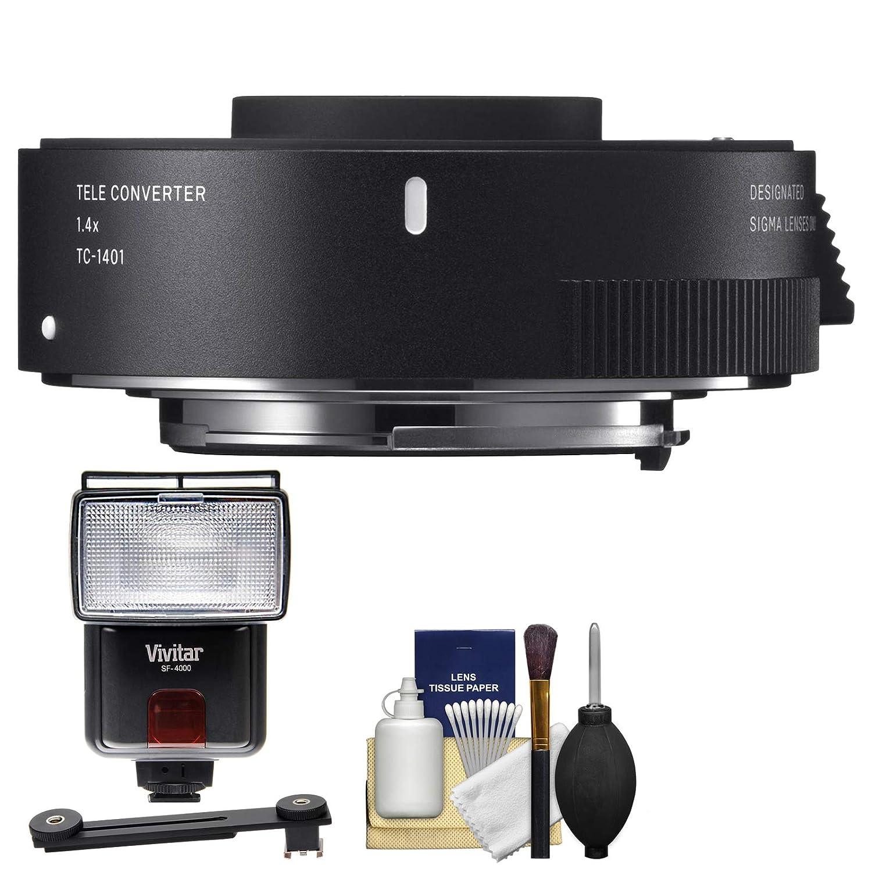 Sigma TC - 1401 1.4 X Teleconverter withフラッシュ+ディフューザー+キットfor Canon EOSデジタル一眼レフカメラ   B073DCD59S