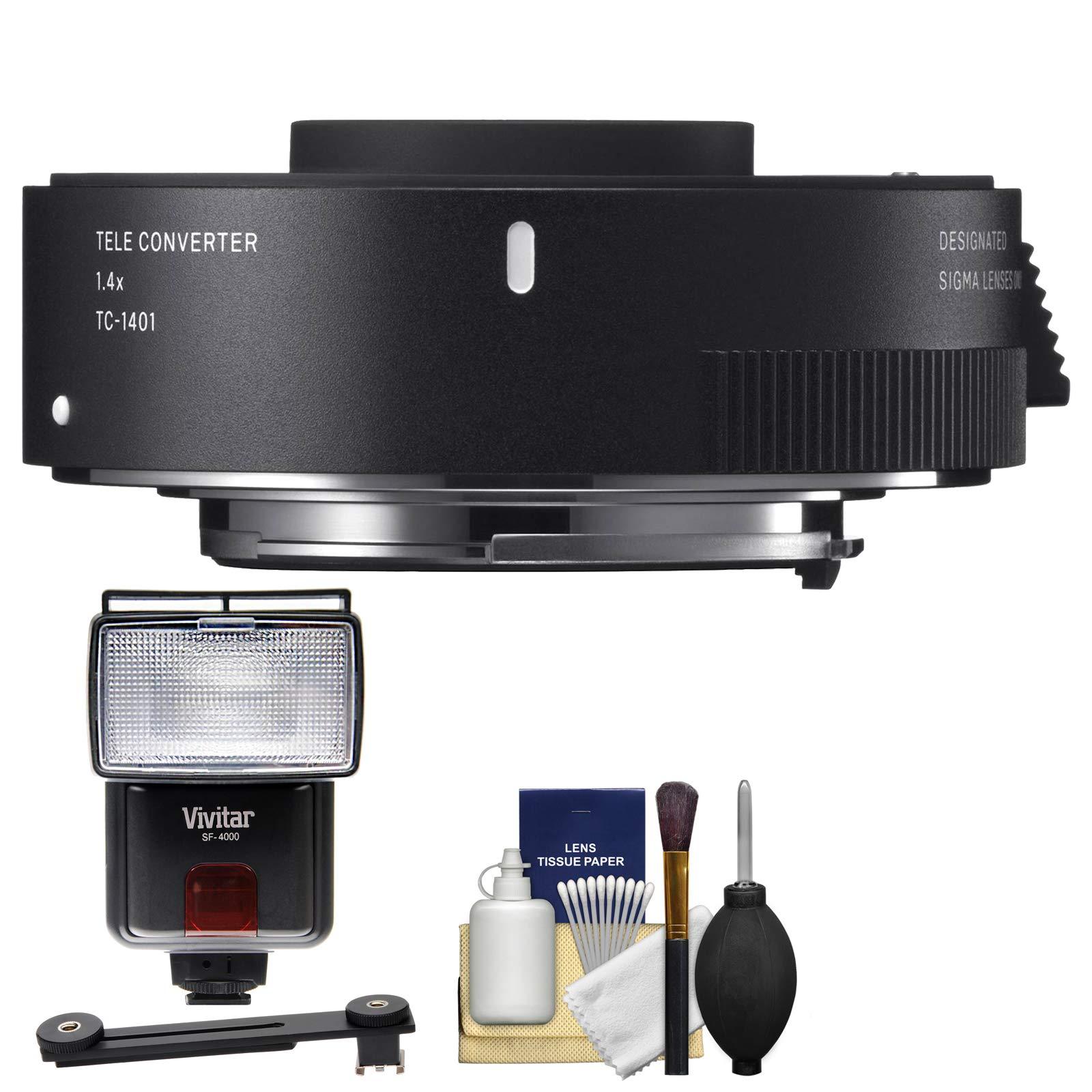 Sigma TC-1401 1.4X Teleconverter with Flash + Diffuser + Kit for Canon EOS Digital SLR Cameras
