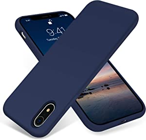 JELE iPhone XR Case, Silicone Shockproof Case Compatible with iPhone XR Case Full-Body Protective Phone Case Slim Thin Cover Anti-Scratch Shockproof Bumper Case for Apple iPhone XR (Navy Blue)