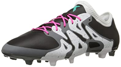adidas Performance Men's X 15.2 FirmArtificial Ground Soccer Cleat,BlackShock Mint