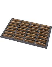 JVL Heavy Duty Nimbus Rubber Natural Coir Tuffscrape Door Mat, Rattan