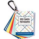 DSLR Cheat Sheet Cards for Canon, Nikon and Sony Cameras - Plastic Quick Reference Photography Cards | Camera Settings…