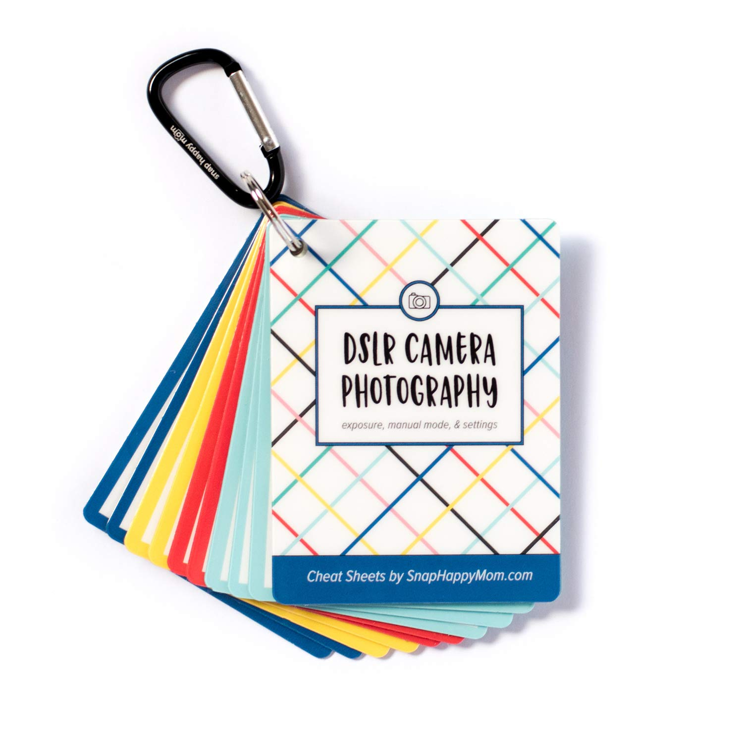DSLR Cheat Sheet Cards for Canon, Nikon and Sony Cameras - Plastic Quick Reference Photography Cards | Camera Settings, Exposure & Manual Mode | Snap Happy Mom by Snap Happy Mom