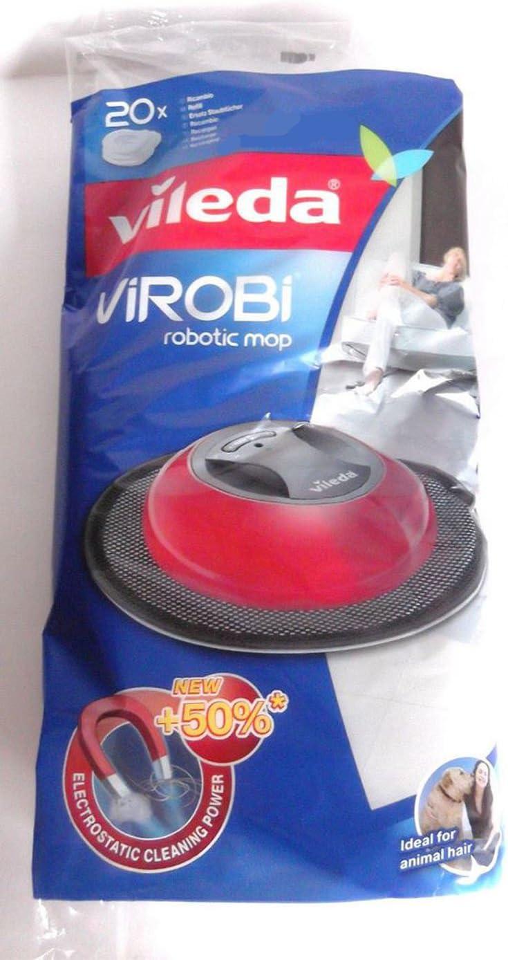 Vileda 136133 Virobi - Toallitas de repuesto para robot aspirador ...