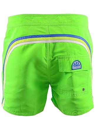 8212d22432 SUNDEK Short de Bain Homme 502 Vert Fluo: Amazon.fr: Vêtements et  accessoires