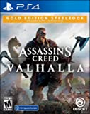 Assassin's Creed Valhalla PlayStation 4 Gold Steelbook Edition with free upgrade to the digital PS5 version