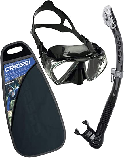 Cressi C/Set Penta + Alpha/ud Pack de Snorkel, Unisex, Negro ...
