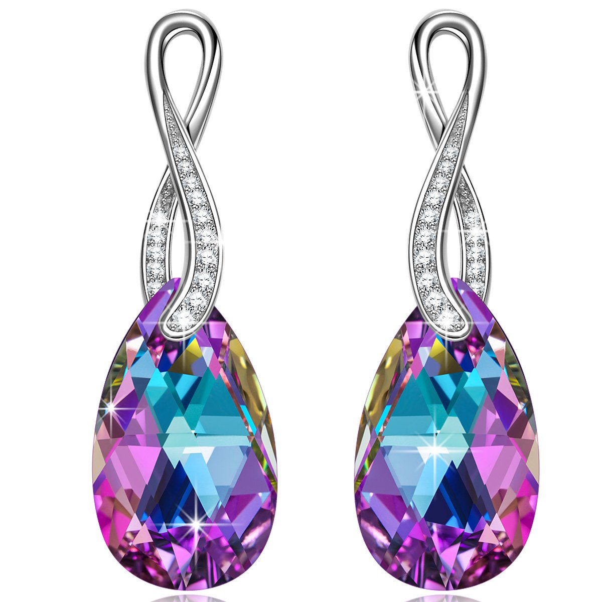Alex Perry Amor Provenza Plata de Ley Fabricados con Vitrail Light Cristales